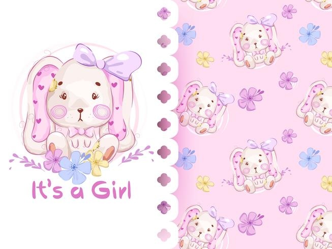 Its a girl pattern with rabbit
