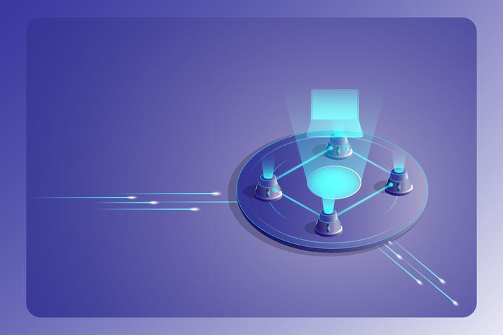 Technologie de chaîne de blocs Concept de page de destination