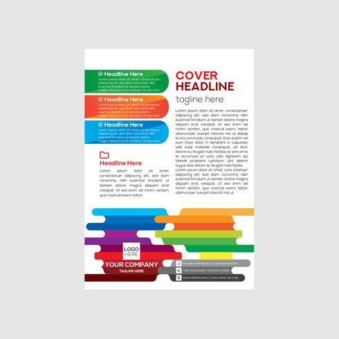 Design de folheto corporativo moderno e simples