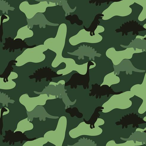 Hand drawn green camouflage dinosaur pattern