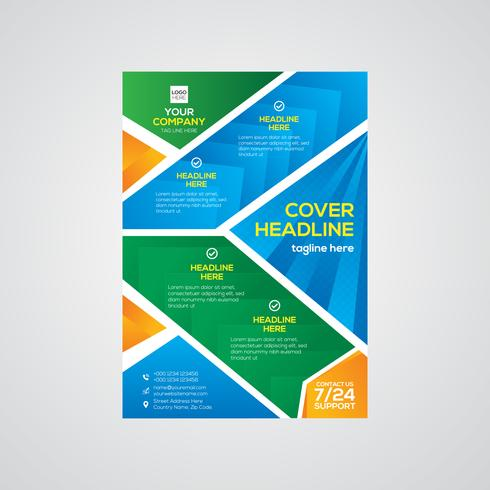 Design de folheto colorido de negócios corporativos