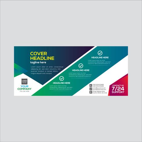 Colorido diseño de banner de negocios corporativos vector