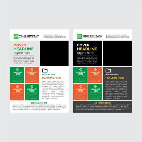 Diseño simple de folleto de negocios corporativos vector