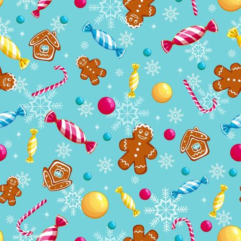 Vector seamless pattern for the holidays