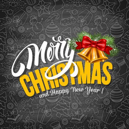 Modèle de carte de voeux de Noël et du nouvel an