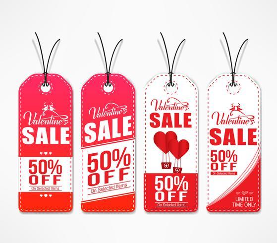 Set of Valentines Sale Sale Tags