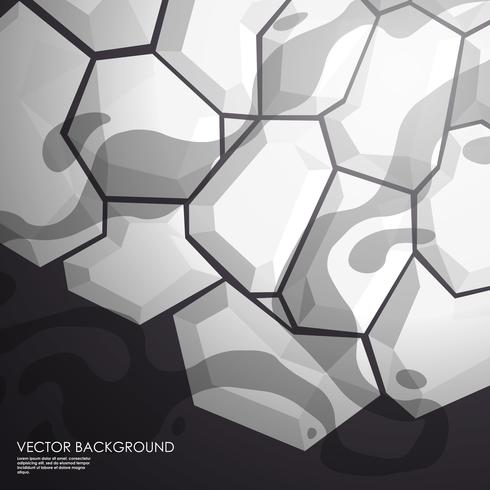 Abstract geometric black and grey layout for presentation