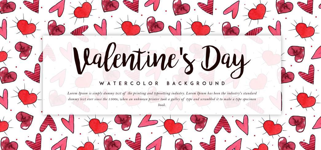 Banner di San Valentino con motivo a cuore
