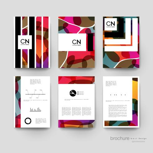 Set of abstract business brochure template