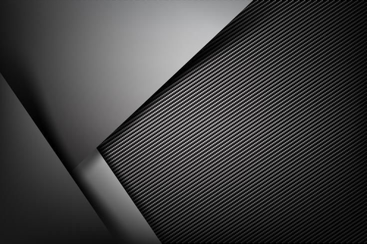 Abstrakte Hintergrunddunkelheit mit Kohlenstofffaserbeschaffenheit vektor