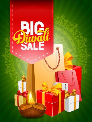 Advertising label for Diwali sale