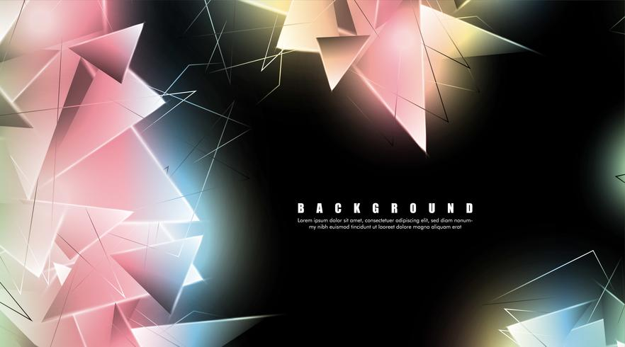 abstract background with glowing triangles