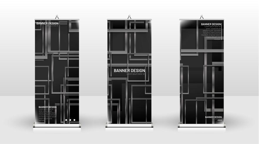 Vertikales Banner-Template-Design vektor