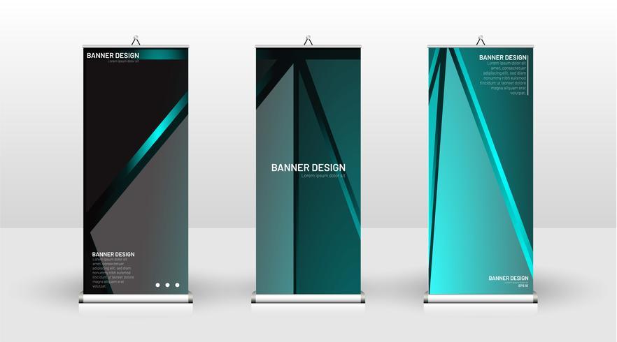 Vertical banner template light design