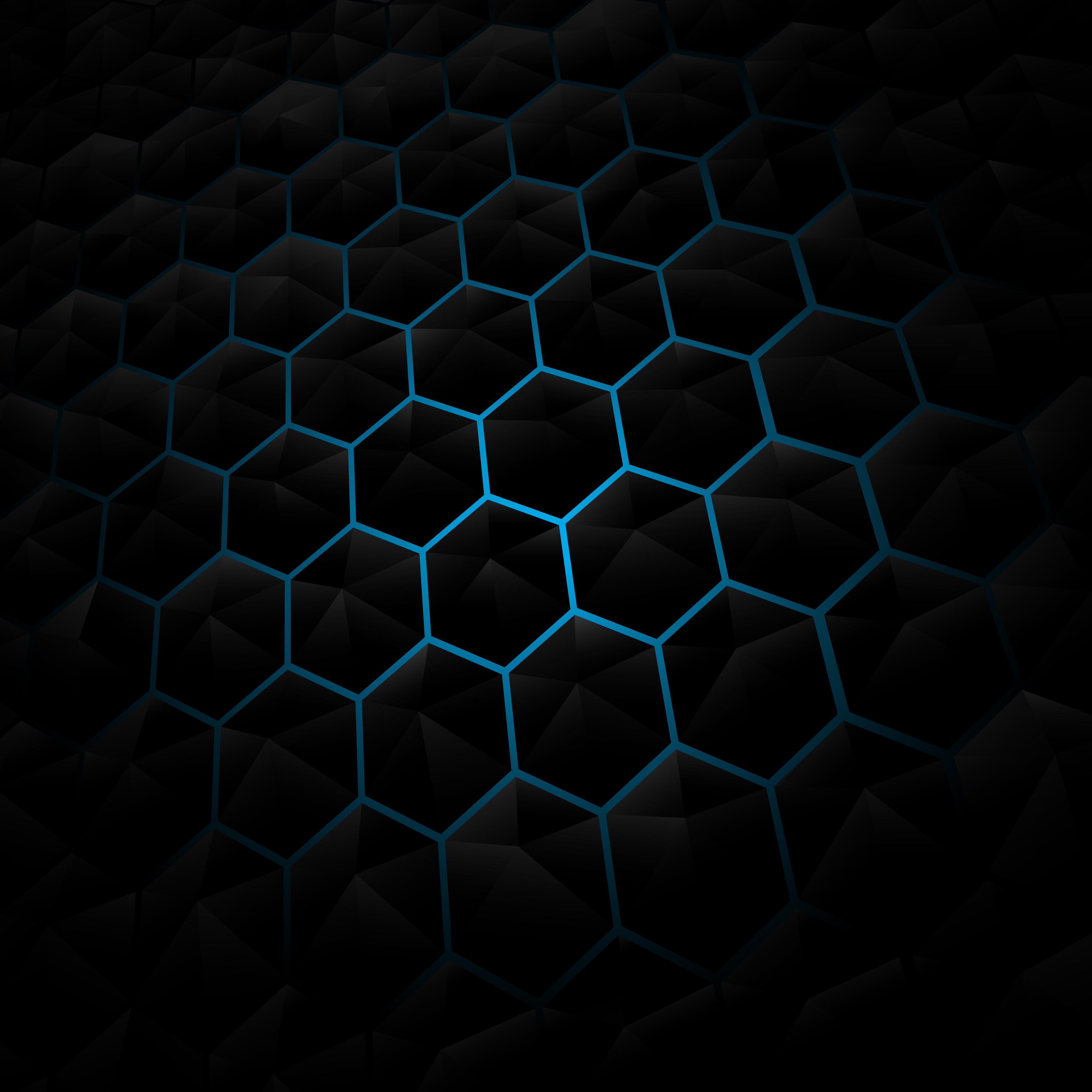 Abstract Black Hexagon Pattern Background Download Free Vectors Clipart Graphics Vector Art