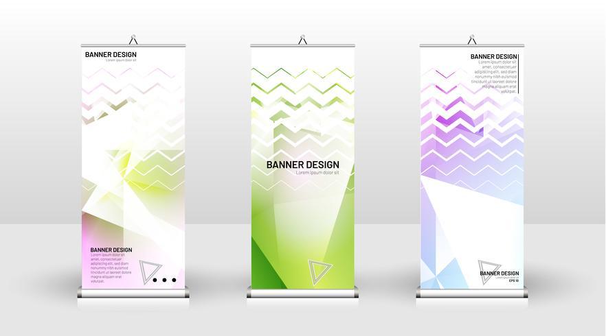 Diseño de plantilla de banner vertical