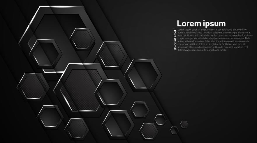 Fondo abstracto hexagonal vector