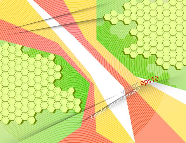Bright abstract hexagon colorful pattern