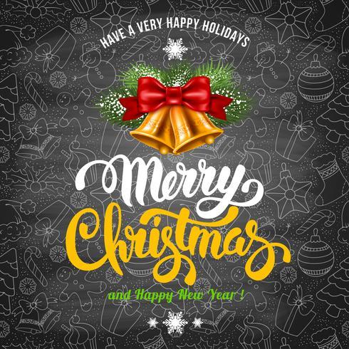 Merry Christmas Greeting Design Card