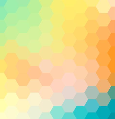Abstract colorful hexagon mosaic pattern