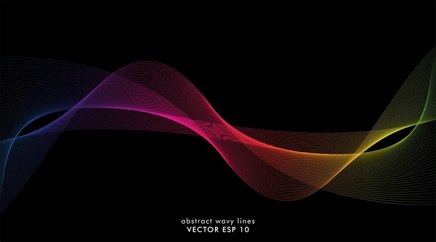Colorful wave lines that flow background  vector