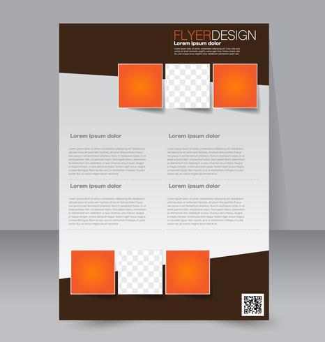 Modelo de folheto abstrato panfleto tradicional