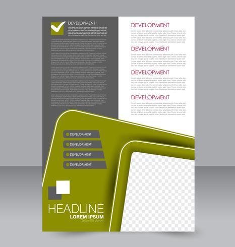 Modelo de brochura - panfleto de linhas modernas abstratas