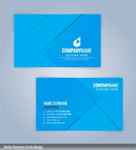 Modelo de design de cartão azul monocromático