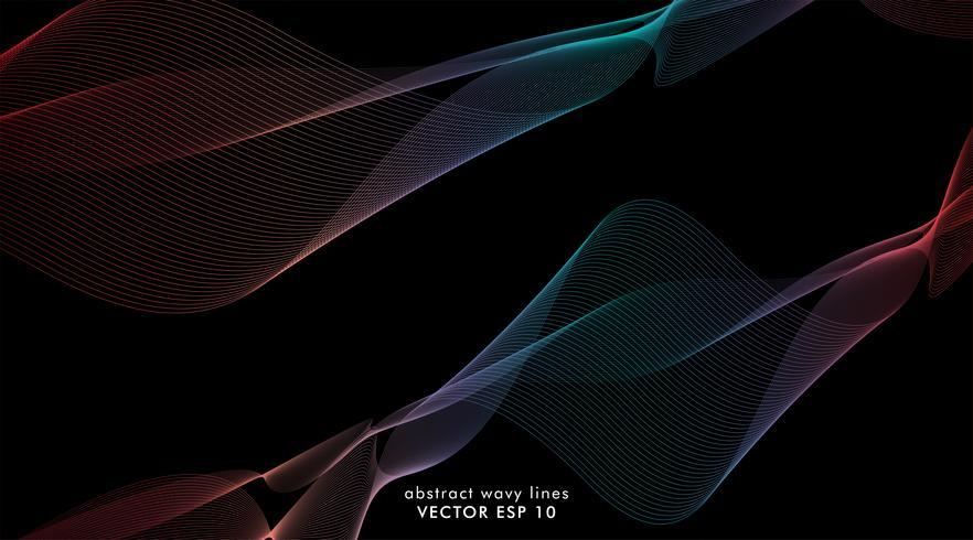 Líneas de onda de colores de fondo vector