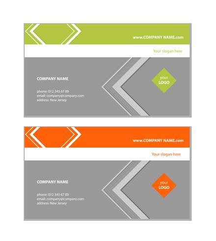 Modelo de cartão de negócios - simples setas e triângulos