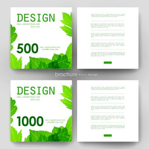 Modelo de brochura - design de folhas