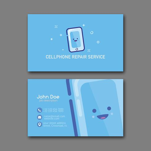 Cellphone repair service business card template