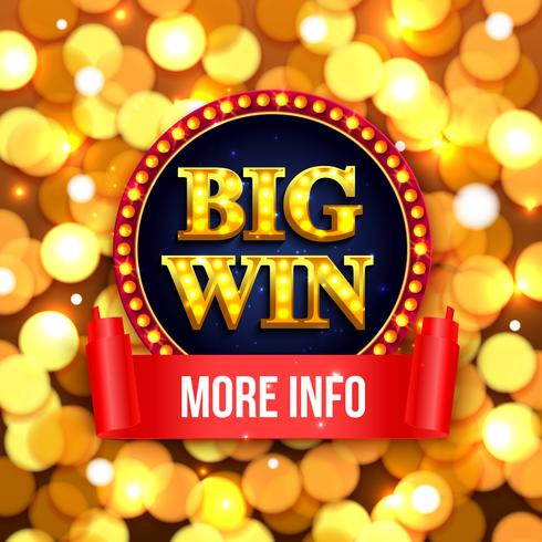 Big win background for casino