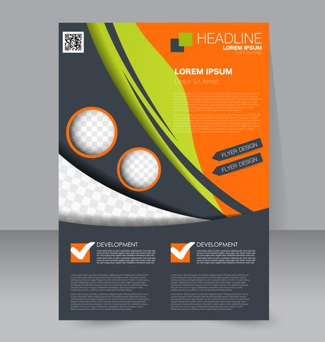 Bright Neon Abstract Flyer Brochure Template