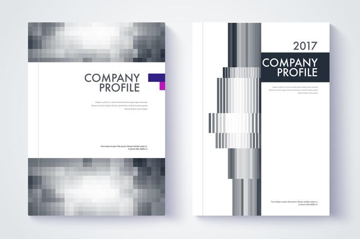 Diseño de portada del informe anual de la empresa vector