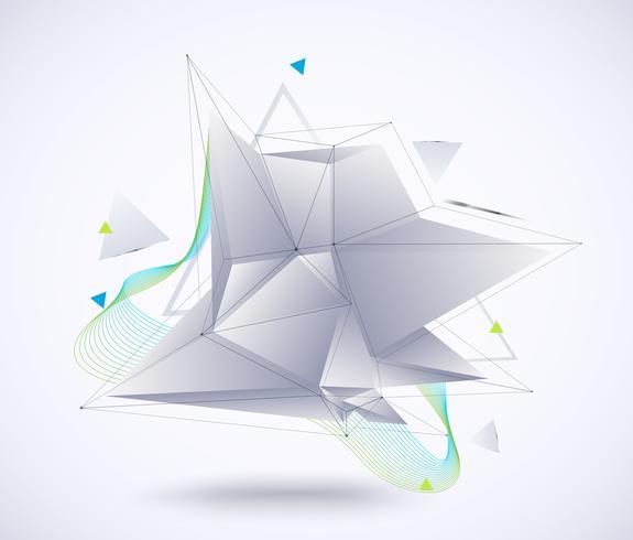 Abstrait géométrique faible polygone
