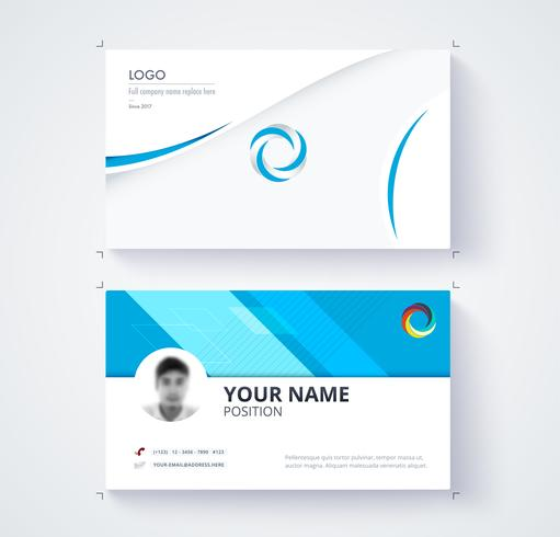 Plantilla de tarjeta de visita vector