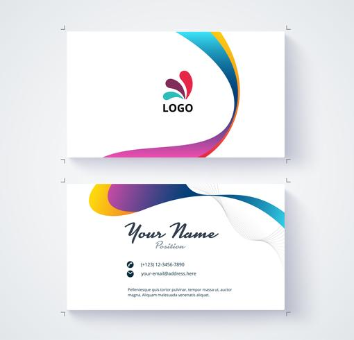 Business card template commercial vector