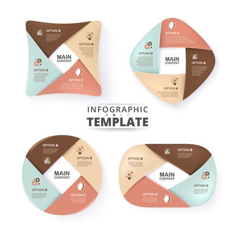 Colección de infografía empresarial vector
