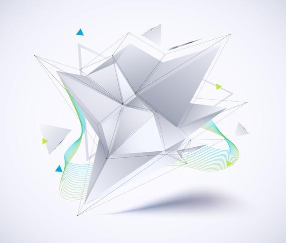 Polígono bajo geométrico abstracto vector