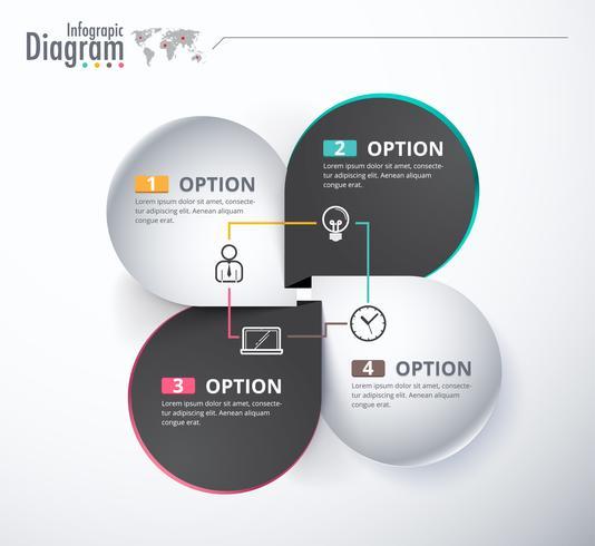 Infográfico de negócios de rótulo de escolha 4 vetor