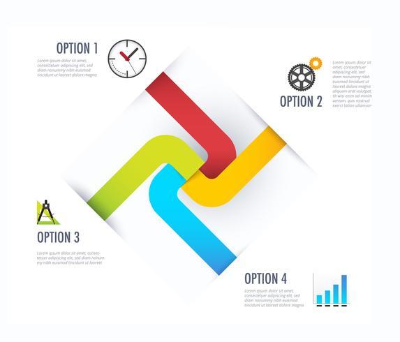 Diagrama de infográfico de negócios vetor