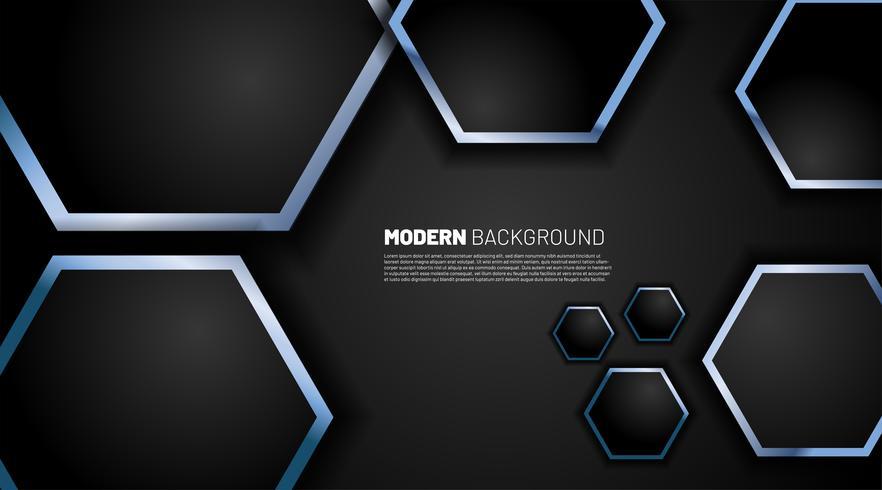 Tecnología de fondo con formas hexagonales vector