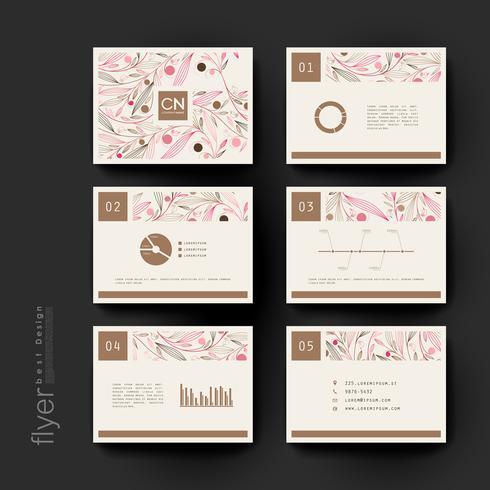 Conjunto de modelos de Brochura Floral moderno Pastel vetor