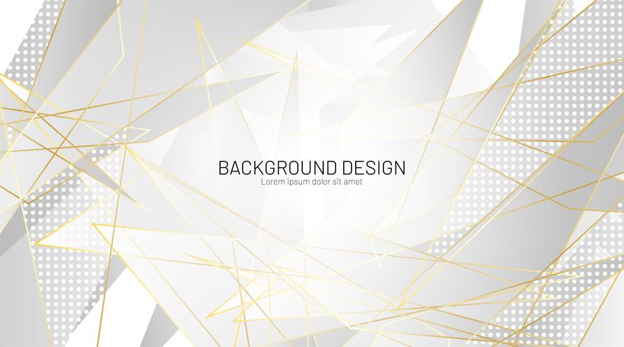 Gray triangle and gold lines geometric  background vector