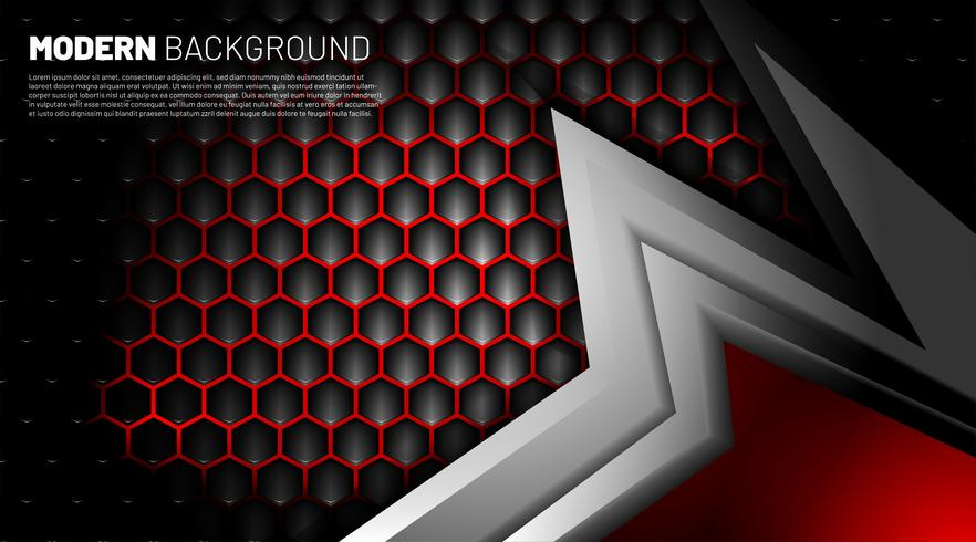 Black and gray shape background vector