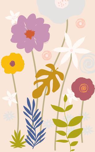 Flores coloridas vetor