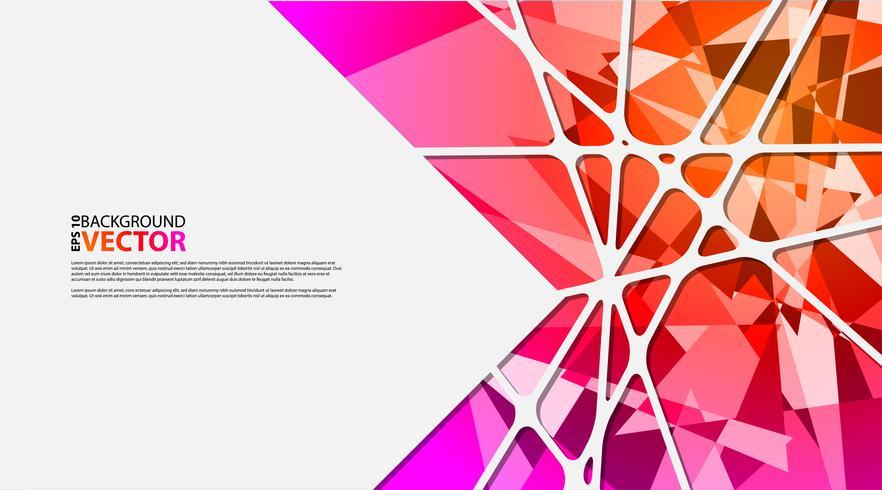 Fondo geométrico abstracto con polígonos vector
