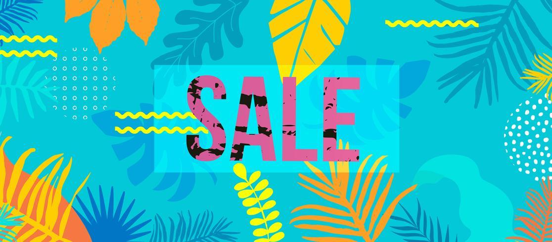 Banner de sitio web de venta vector