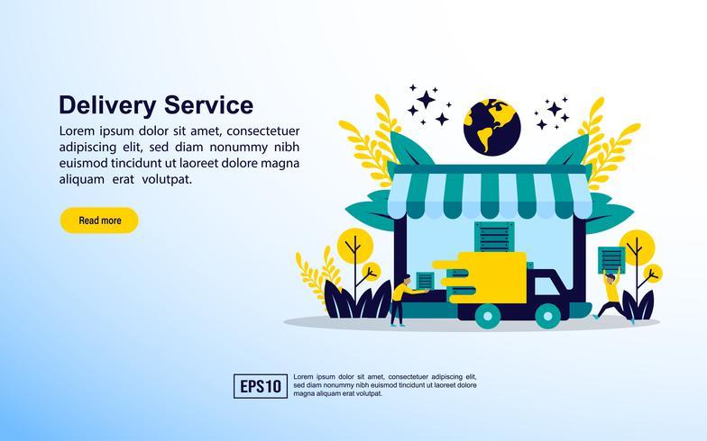 Servicio de entrega de seguimiento de carga en línea vector